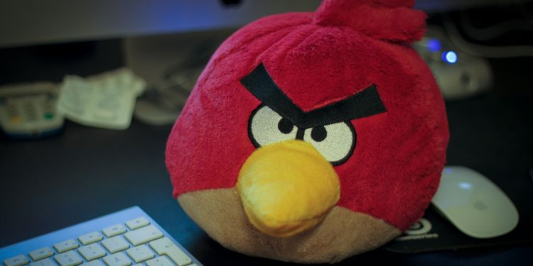 Photo of plush angry bird toy