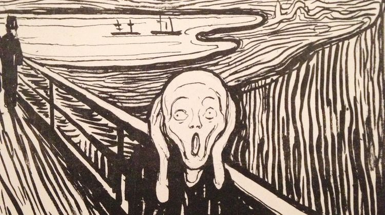 Image of Edward Munch's Scream Variation - Litography