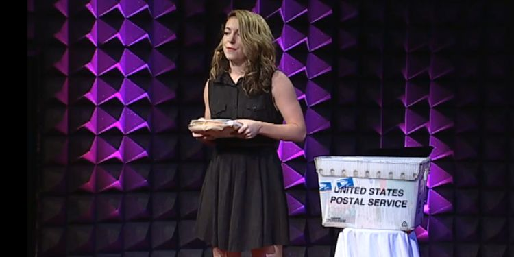 Photo of Hannah Brencher On Stage At TED Talks