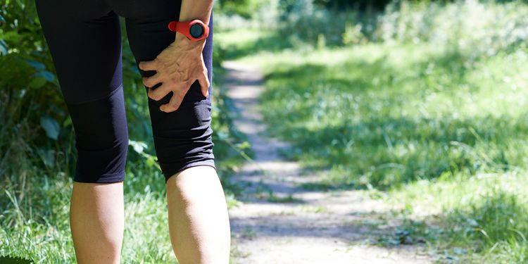 Photo of Woman With Sports Injury Sustained Whilst Jogging