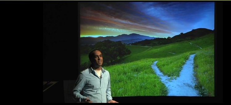 Photo of Neil Pasricha On Stage At TED Talks