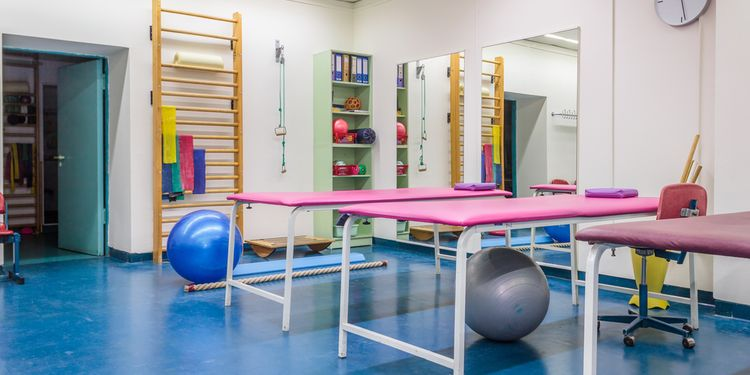 Photo of empty room in physiotherapy clinic