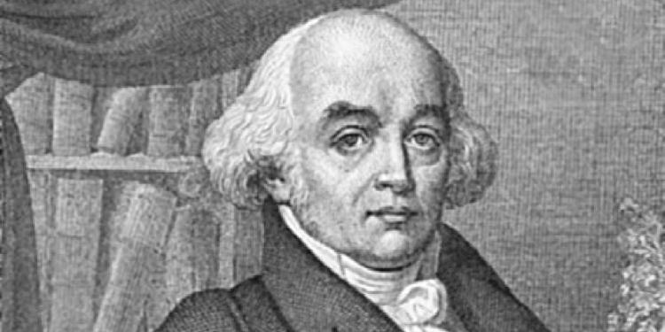 Portrait of Samuel Christian Hahnemann, father of Homeopathy