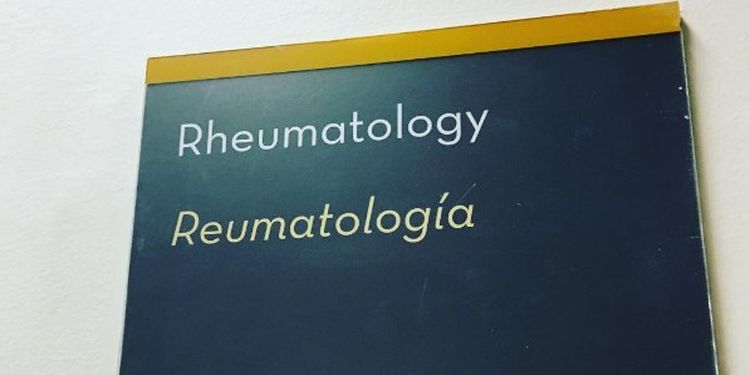 Image of a rheumatologist department plate