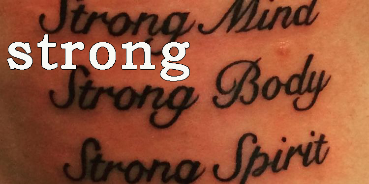 Image of a strong body tattoo