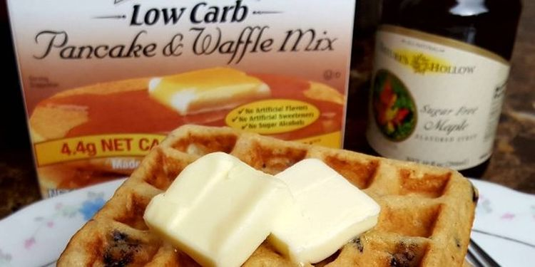Image of low carb waffles