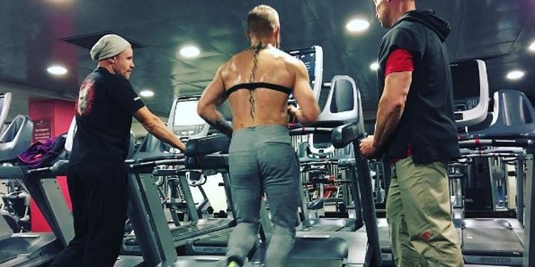 Image of Connor McGregor on the treadmill