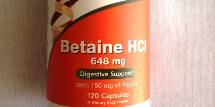 Photoof betaine HCL supplement bottle