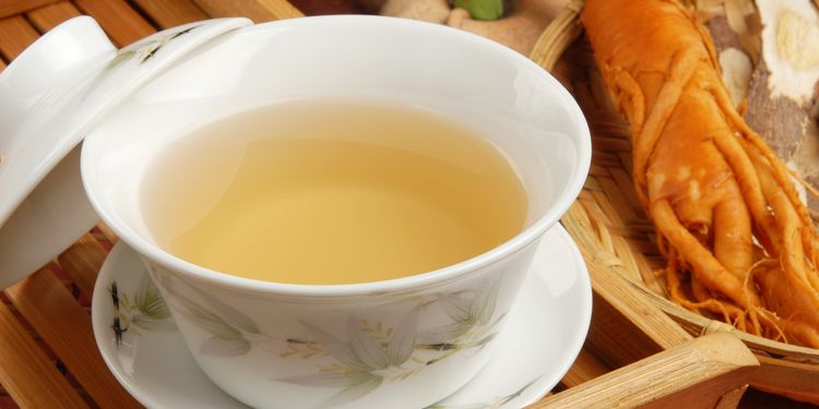 Photo of cup of ginseng tea