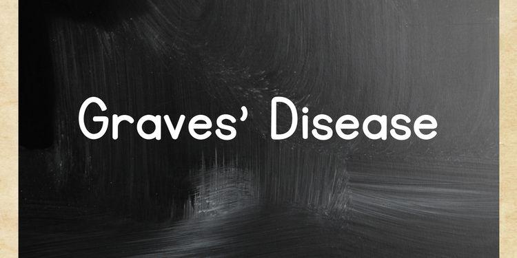 Image of text GRAVES' DISEASE on black board