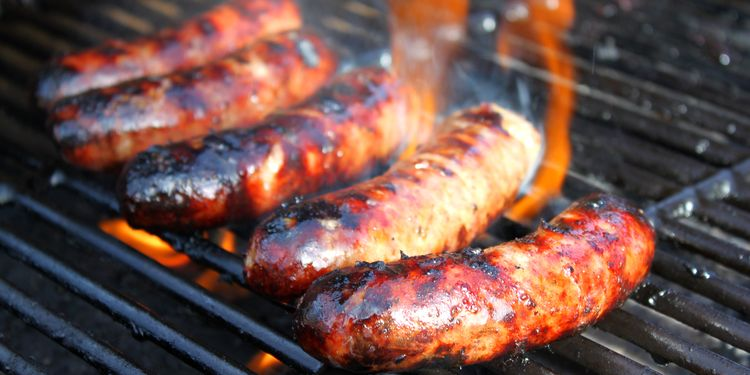 Photo of a grill sausages