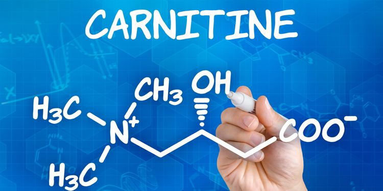 Image of hand drawing formula of carnitine