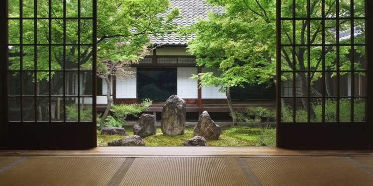 Photo of Japanese garden, most quiet place for meditating