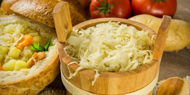 Photo of a fermented cabbage which is good in battle against dysbiosis