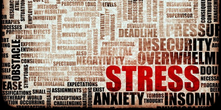 Illustration of Stress related keywords