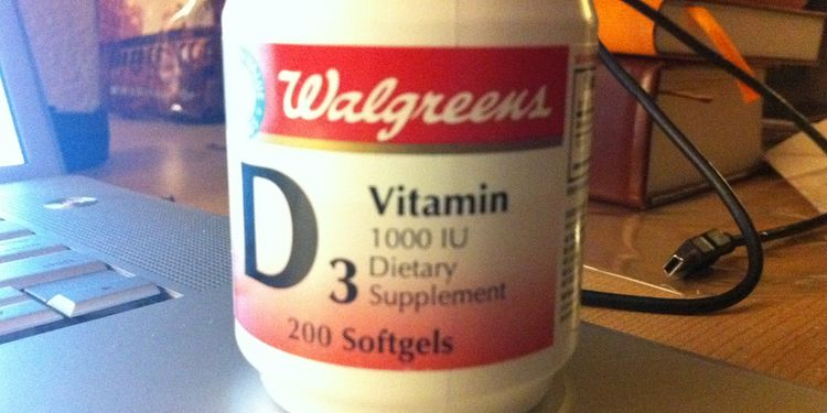 Photo of Vitamin D3 supplement bottle