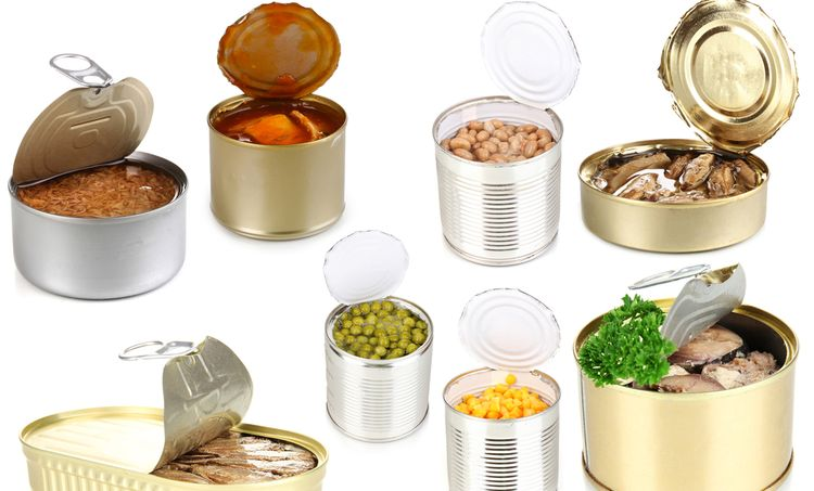 Photo of different canned foods