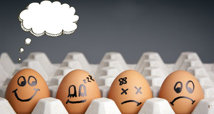 Photo of eggs with faces drawn