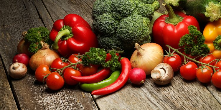 Photo of raw fresh vegetables on table, natural way to fight inflammation