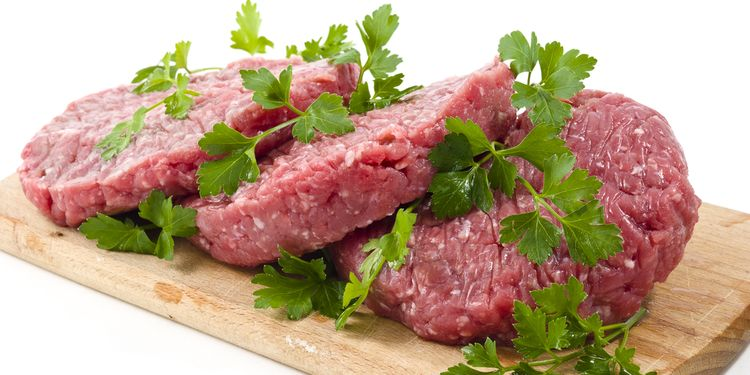 Photo of raw meat slices