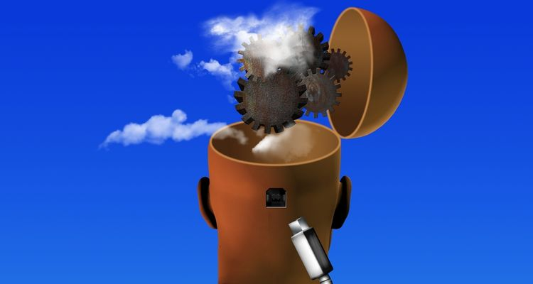 Illustration of brain fog