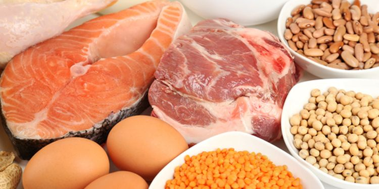 Photo of different high protein foods