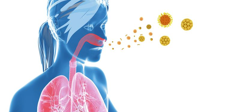 Illustration of respiratory infection