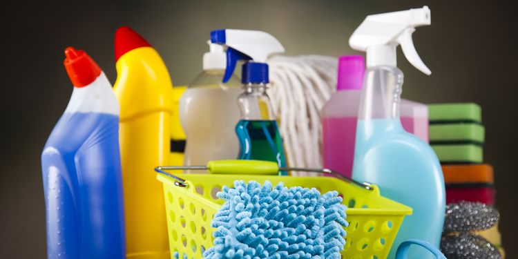 Photo of toxic cleaning products