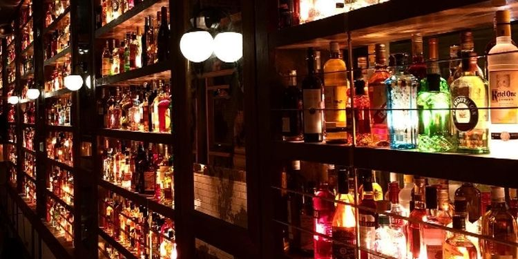 Image of alcohol in the bar