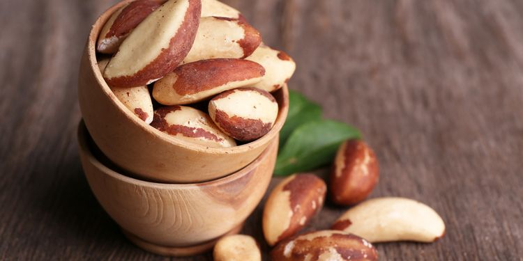 Image of brazilian nuts in a cup