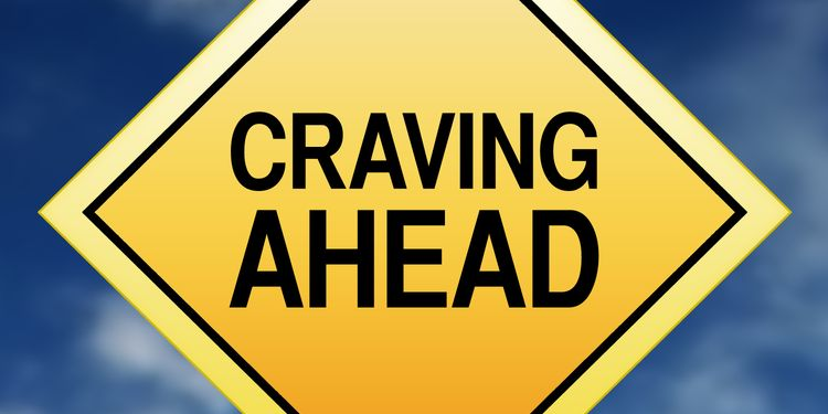 Illustration of a traffic sign saying - CRAVING AHEAD