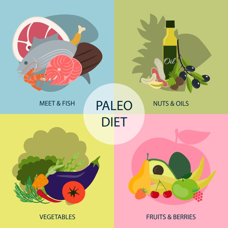 Illustration of Paleo Diet ingredients