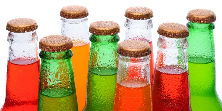 Image of soda pop bottles